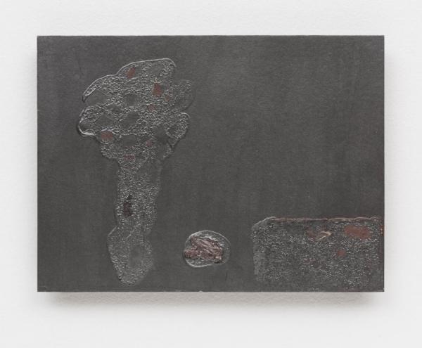 Antonio Dias   Árvore, 1983  acrílico s/ tela, 24,5 x 33 cm   Tree, 1983  acrylic on canvas, 9  ⅝ x 13 inches