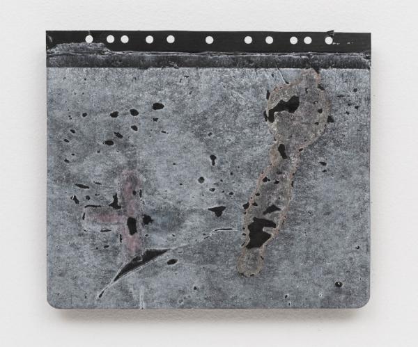 Antonio Dias   Sem título, 1987 acrílico s/ cartão, 25 x 29 cm    Untitled, 1987   acrylic on card, 9  ⅞  x 11 7/6 inches