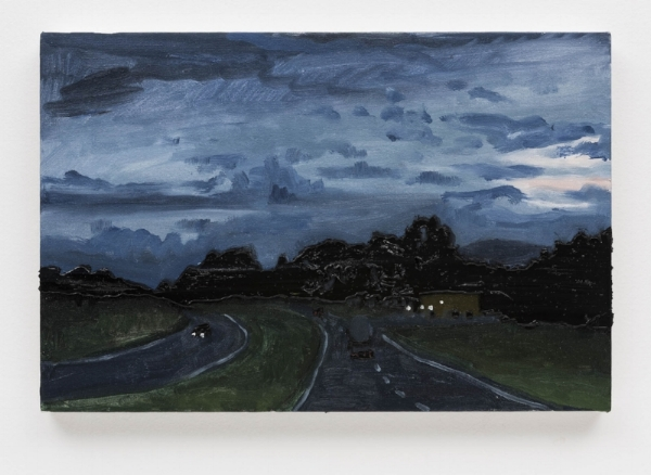 Rodrigo Andrade   Auto estrada (estudo), 2016 óleo s/ tela, 30 x 45 cm     Highway (study), 2016  oil on canvas, 11 13/16 x 17  ¾  inches