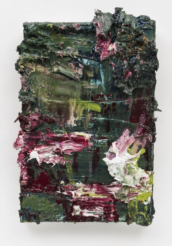 Alvaro Seixas   Pintura sem título (Reino)  , 2016  óleo s/ linho, 30 x 20 cm   Untitled Painting (Kingdom)  oil on linen, 11 13/16 x 7  ⅞  inches