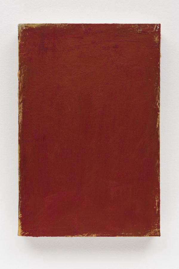 Sérgio Sister   Vermelho Dante, 2016  óleo sobre tela, 30 x 20 cm   Dante Red  oil on canvas, 11 13/16 x 7  ⅞  inches