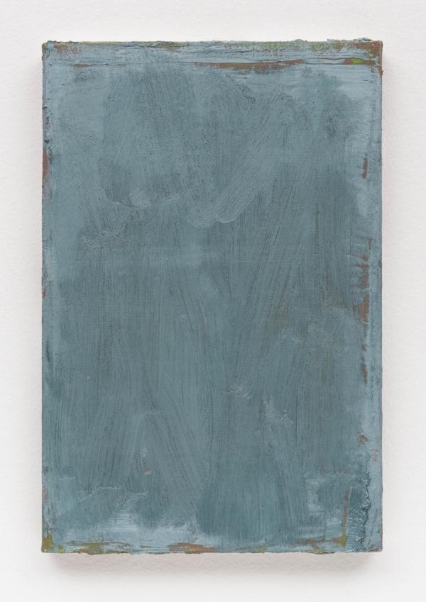 Sérgio Sister   Azul cintilante, 2016  óleo sobre tela, 30 x 20 cm   Sparkling blue, 2016  oil on canvas, 11 13/16 x 7  ⅞  inches