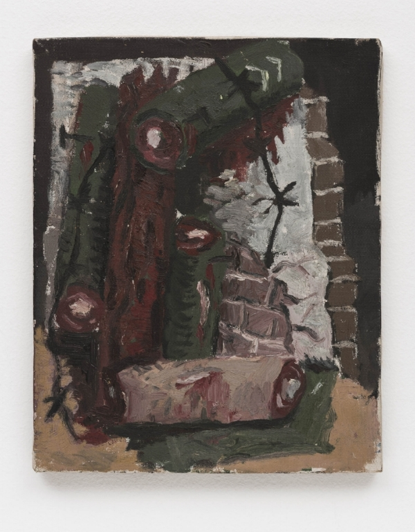 Rodrigo Andrade   Sem título, 1984  óleo s/ tela, 30 x 24 cm   Untitled, 1984  oil on canvas, 11 13/16 x 9 7/16 inches