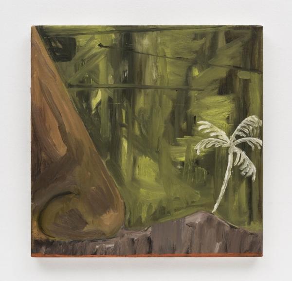 Rodrigo Bivar   Napa Rapa Nui, 2014  óleo s/ tela, 40 x 40 cm   Napa Rapa Nui, 2014  oil on canvas, 15  ¾  x 15  ¾  inches