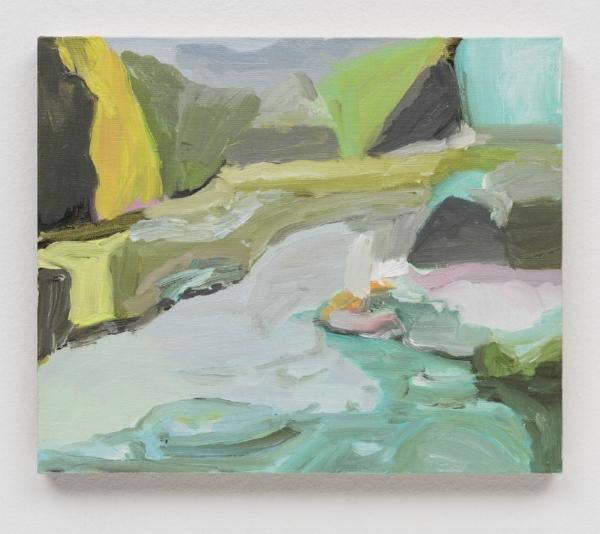 Gabriela Machado   Further On Air, Série Hamptons, 2016  óleo s/ linho, 20 x 30 cm   Further On Air, Hamptons Series, 2016  oil on linen, 7  ⅞  x 11 13/16 inches