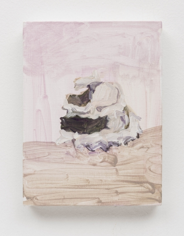 Gabriela Machado    Sem título, 2013  óleo s/ tela, 25 x 18 cm   Untitled, 2013   oil on linen, 9 13/16 x 7 1/16 inches