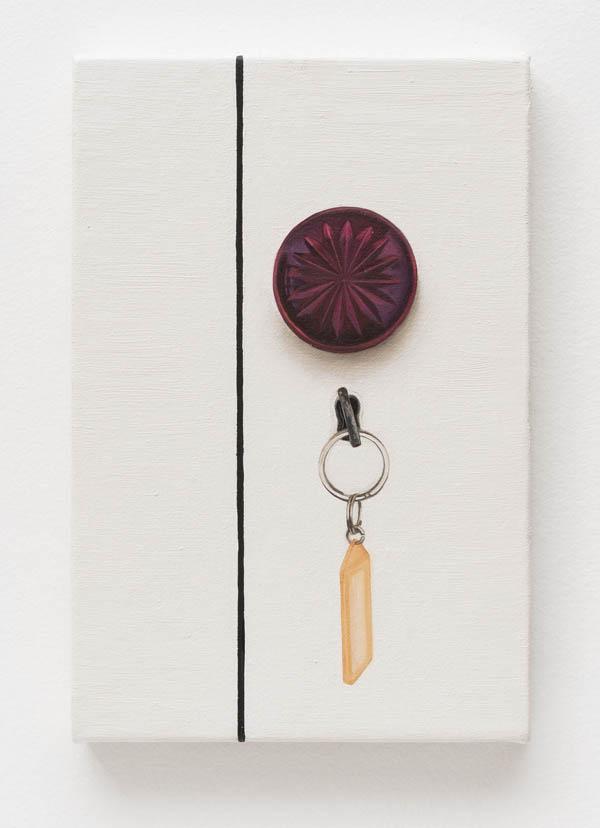 Ana Elisa Egreja   Maçaneta vinho , 2016 óleo sobre tela, 30 x 20 cm   Wine doorknob , 2016 oil on canvas, 11 13/16 x 7 7/8 inches
