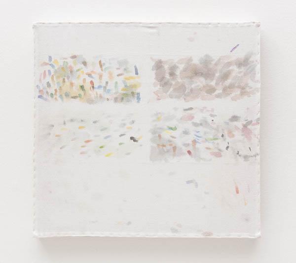 Jac Leirner   Sem título , 2010 aquarela sobre algodão, 41,5 x 43,5 cm   Untitled , 2010 watercolour on cotton, 16 5/16 x 17 1/8 inches