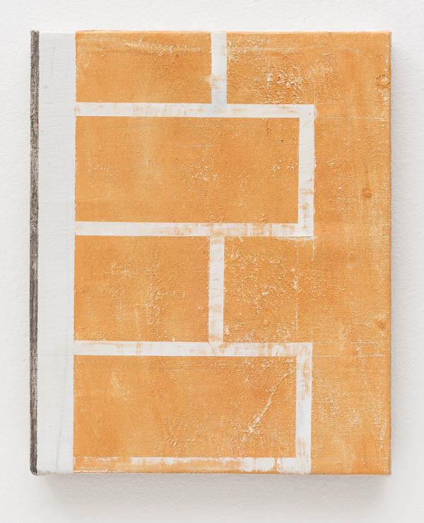 Fabio Miguez   Sem título , 2016 óleo e cera sobre linho, 30 x 24 cm   Untitled , 2016 oil and wax on line, 11 13/16 x 9 7/16 inches
