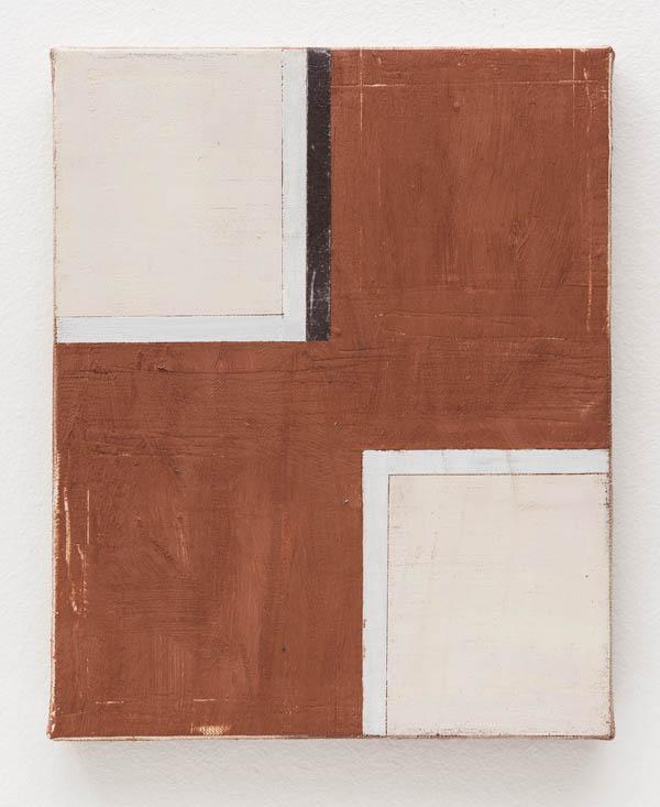 Fabio Miguez   Duas janelas, 2015 óleo e cera sobre linho, 30 x 24 cm    Two windows, 2015 oil and wax on line, 11 13/16 x 9 7/16 inches