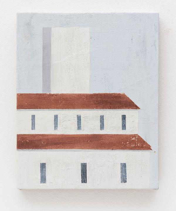 Fabio Miguez    Piero, 2016 óleo e cera sobre linho, 30 x 24 cm    Piero, 2016 oil and wax on line, 11 13/16 x 9 7/16 inches