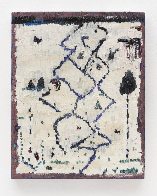 Marina Rheingantz   Zig-Zag , 2016 óleo sobre tela, 30 x 24 cm   Zig-Zag , 2016 oil on canvas, 11 13/16 x 9 7/16 inches
