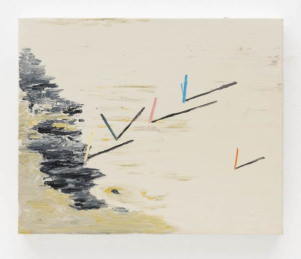 Marina Rheingantz   Bastão de cor , 2016 óleo sobre tela, 24 x 30 cm   Colour stick , 2016 oil on canvas, 9 7/16 x 11 13/16 inches