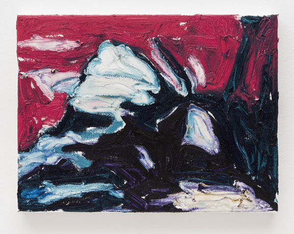 Janaina Tschäpe   Sem título , 2015 óleo sobre tela, 30,5 x 40,5 cm   Untitled , 2015 oil on canvas, 12 x 15 15/16 inches