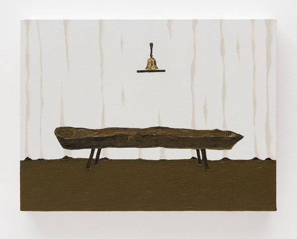 Dalton Paula   Cocho , 2016 óleo e folha de ouro sobre tela, 30 x 40 cm   Trough , 2016 oil and gold leaf on canvas, 11 13/16 x 15 3/4 inches