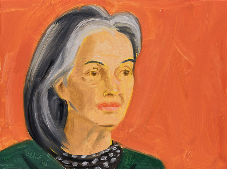 Alex Katz,  Ada , 2015, óleo s/ tela |  oil on board , 30 x 40 cm