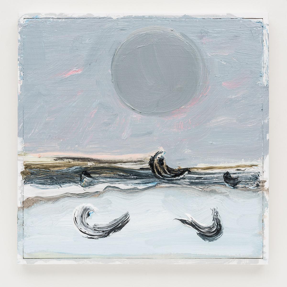 Gabriela Machado, Luas | Moons , 2017, óleo sobre linho | oil on linen ,30 x 30 cm