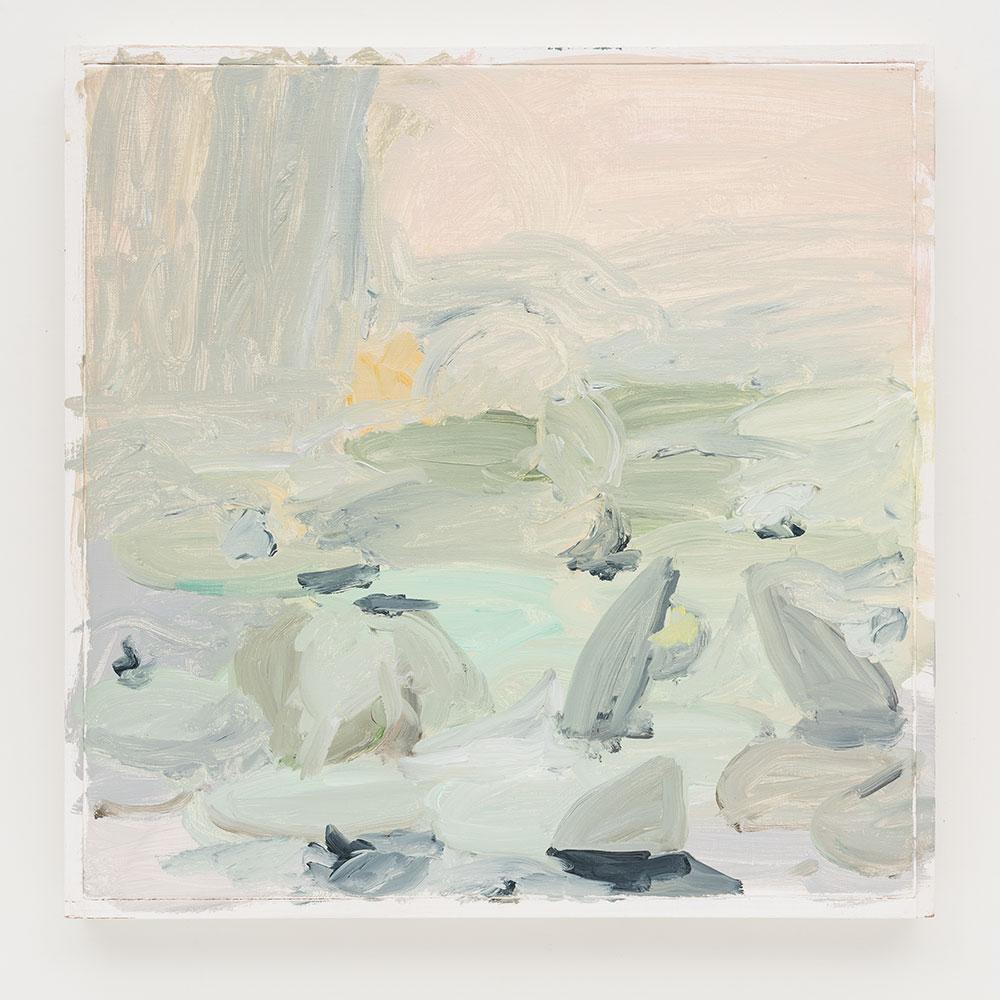 Gabriela Machado, Giverny , 2013, óleo sobre linho | oil on linen ,30 x 30 cm