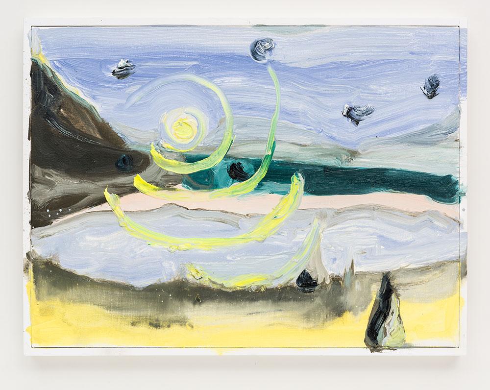 Gabriela Machado, Luas |Moons , 2017, óleo sobre linho | oil on linen ,30 x 40 cm