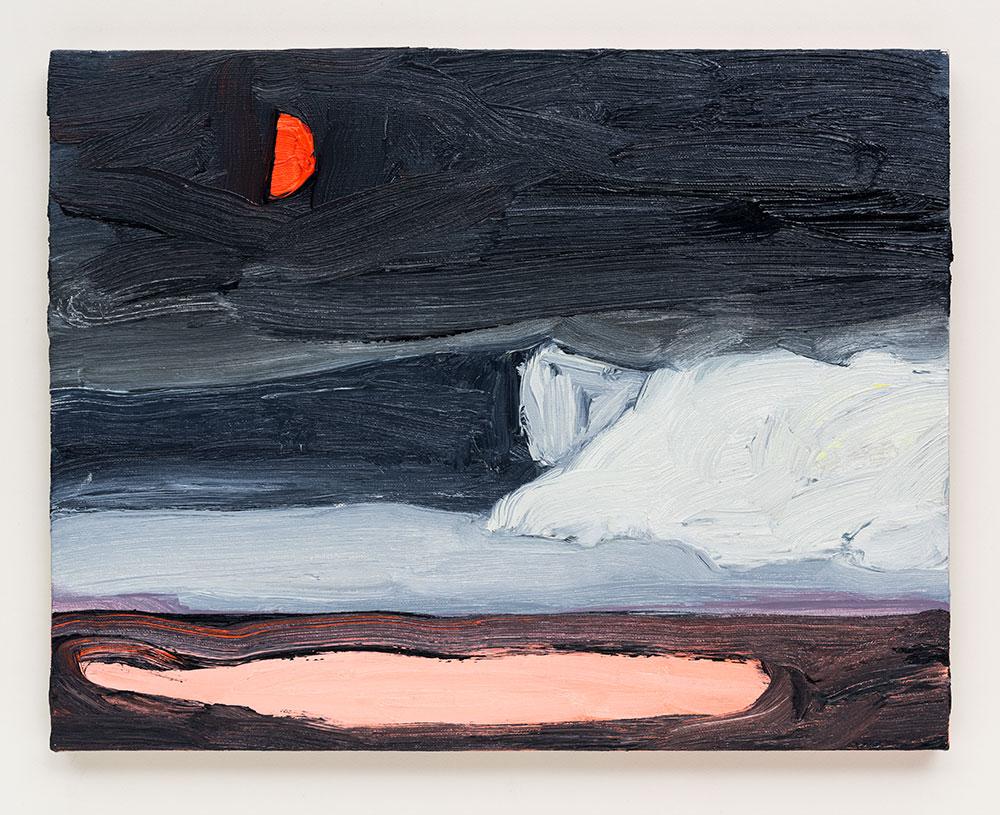 Gabriela Machado, Luas |Moons , 2017, óleo sobre linho | oil on linen , 30 x 40 cm