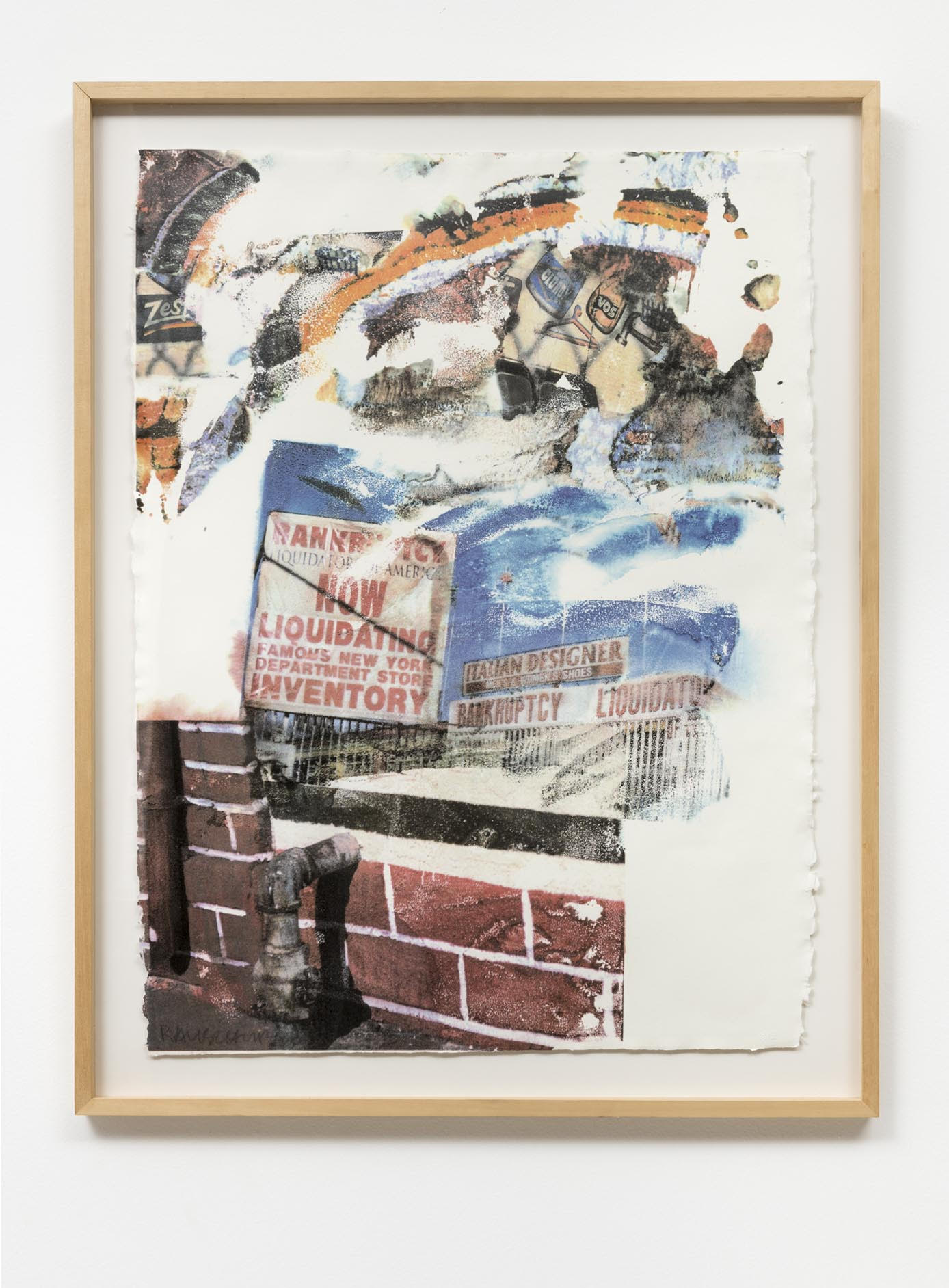 Robert Rauschenberg,  LA Uncovered #6,  1998,  serigrafia em cores  [c olor screenprint ]   81 x 60 cm