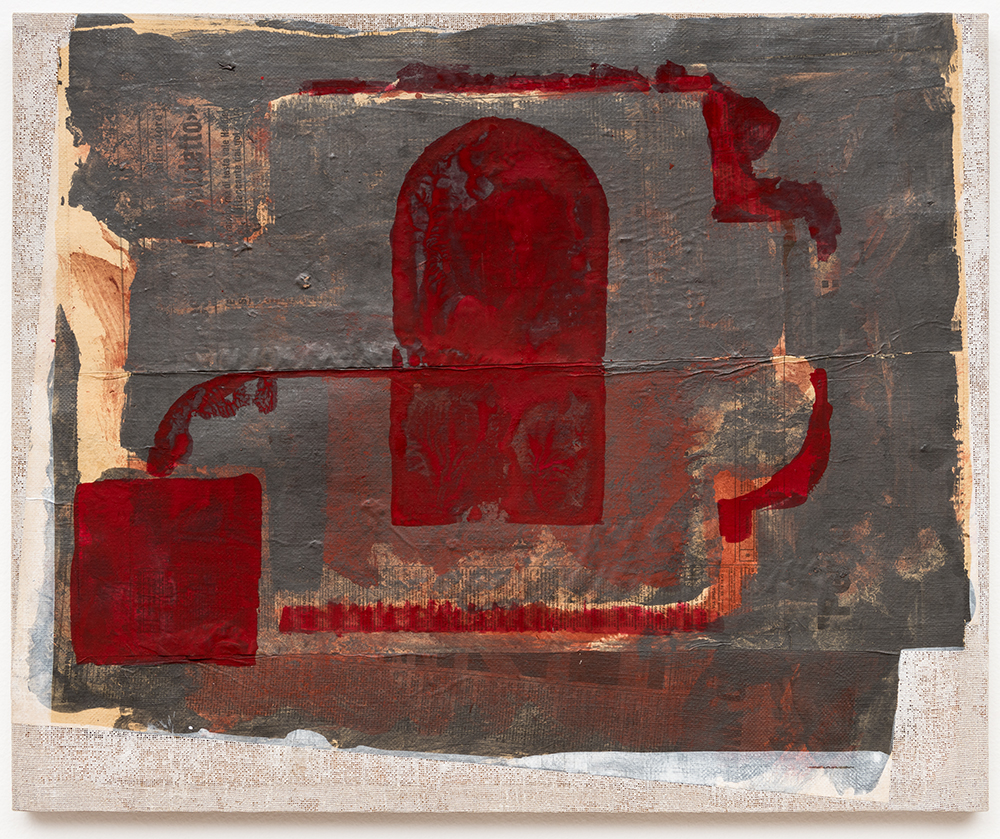 "Fornalha  |  Furnace,  1985, técnica mista sobre tela | m ixed media on canvas , 50 x 61 cm |  19 11/16 x 24"""