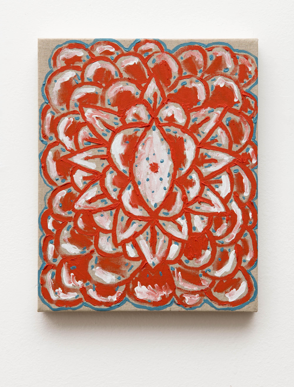 Flor Vermelha | Red Flower   2019  óleo sobre linho |  oil on linen   37 x 30 cm