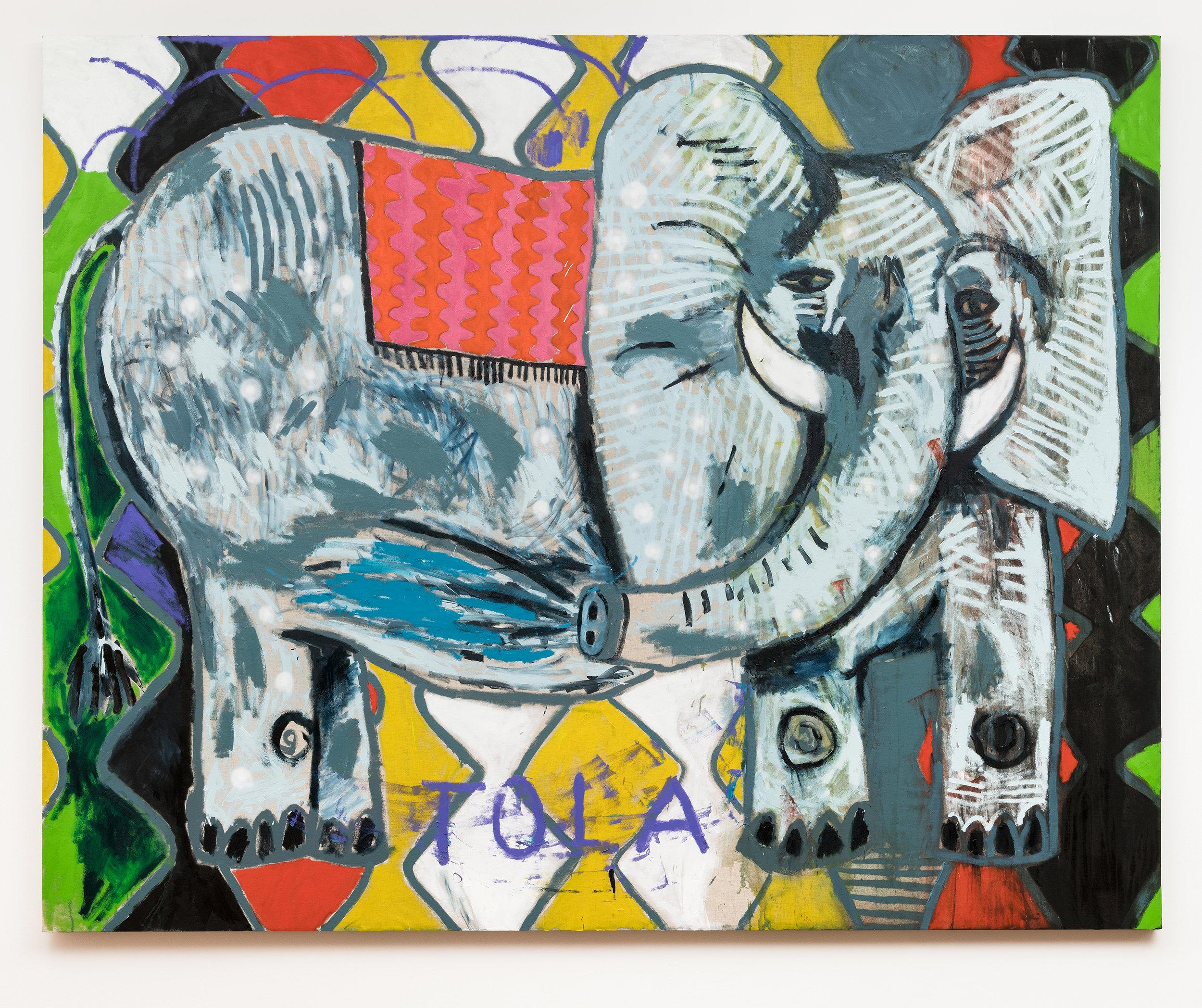 Elefante | Elephant   2019  óleo sobre linho |  oil on linen   200 x 250 cm