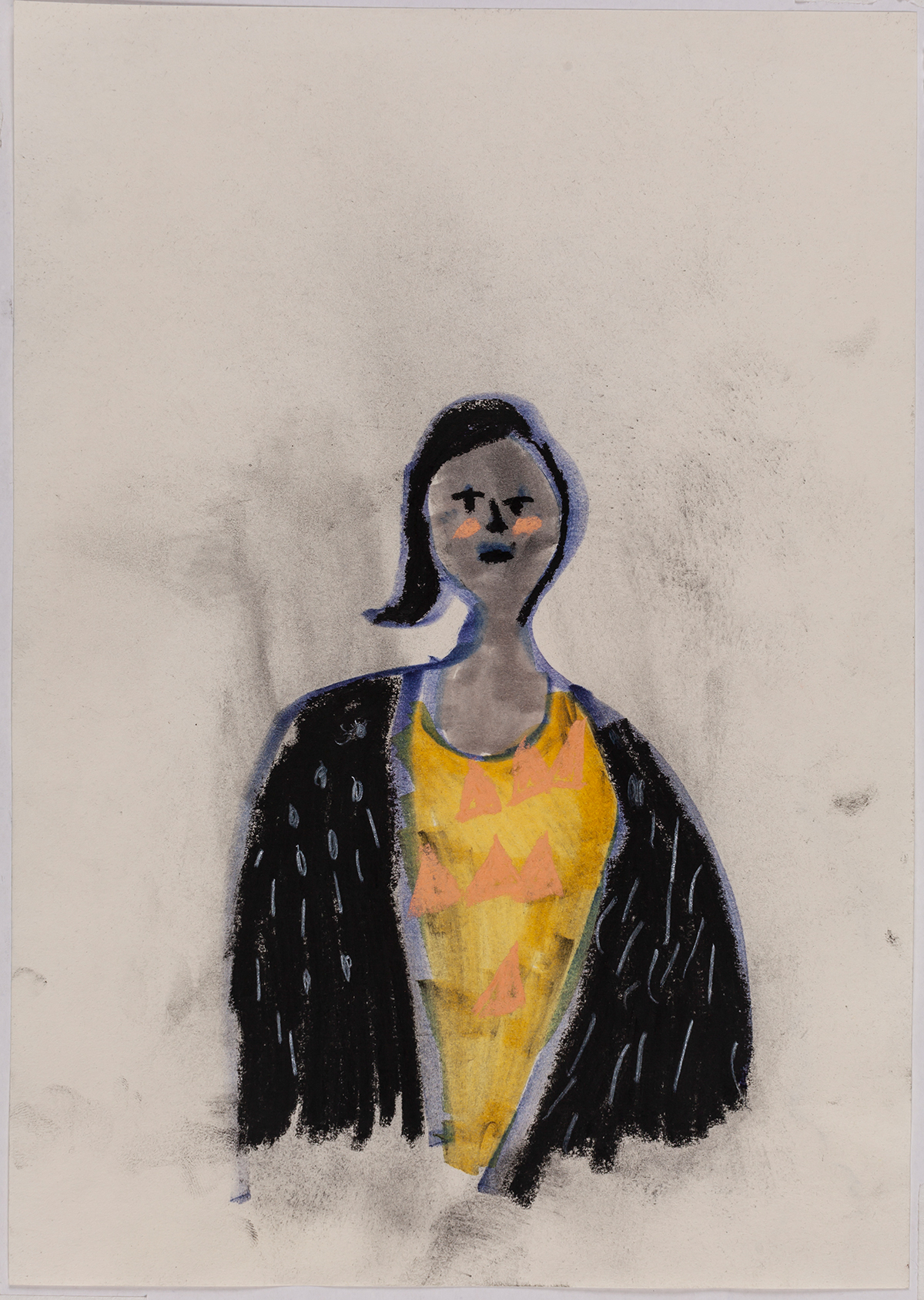 Série Retratos da Bia | Bia's Portraits Series    2016   técnica mista sobre papel |  mixed media on paper   29.7 x 21 cm