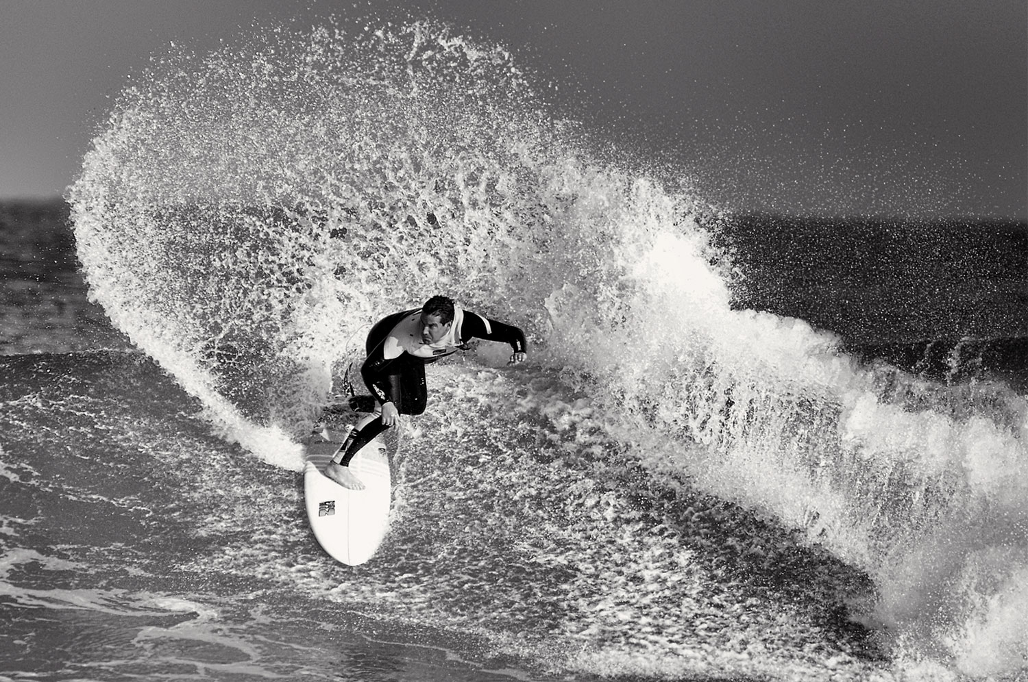 Andy surfing East Strand. Pic by     Eddie McIlwaine