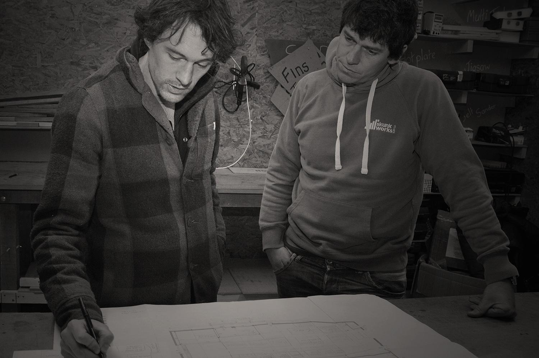 Chris and Ricky at Skunkworks