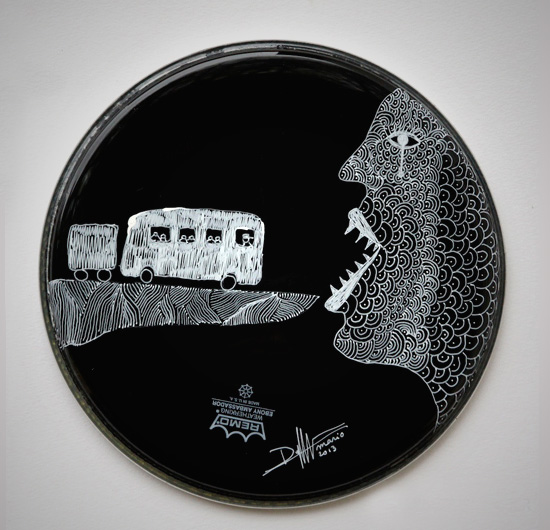 On The Road In North America  Drumhead 32cm