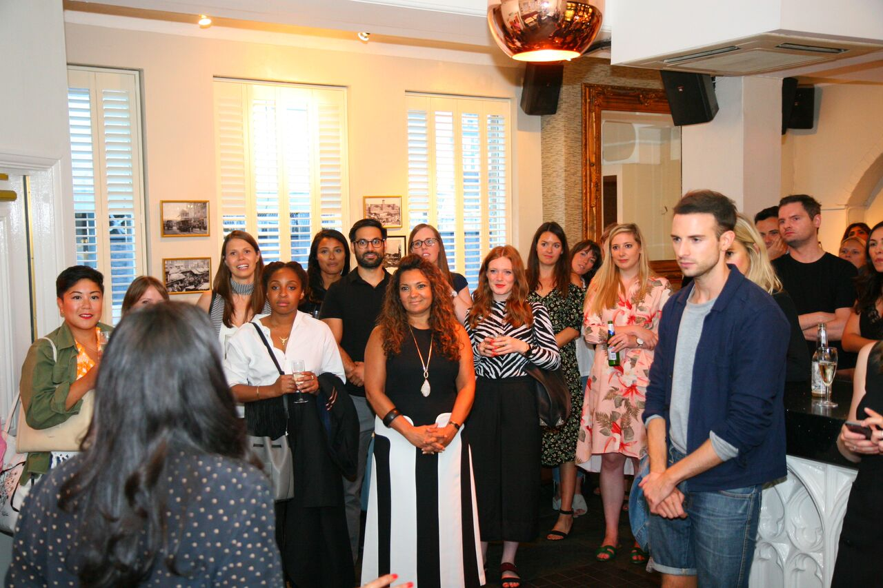 Rue Belle Launch speech with audience