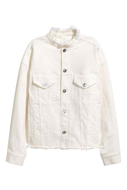 Frayed Collar Denim - H&M - £39.99