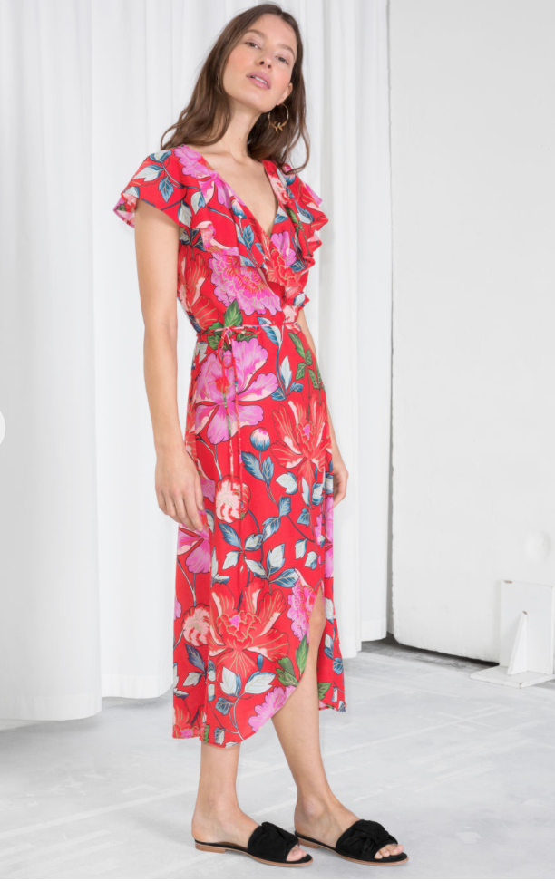 AND OTHER STORIES - Floral ruffle dress £59.00