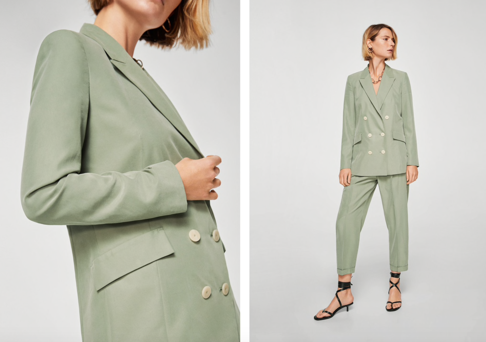 MANGO - Jacket £69.99 / Trousers £35.99