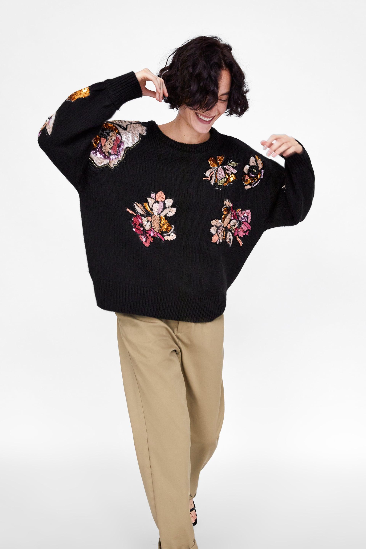 Sequin Knit Sweater-  Zara £79.99