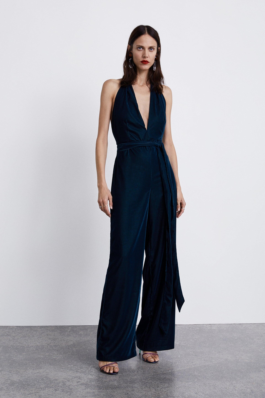 Velvet Jumpsuit -  Zara £69.99