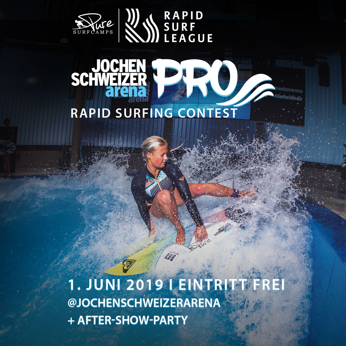 Jochen Schweizer Arena Pro - June 1st 2019Our opening event, just outside Munich, the birthplace of rapid surfing. This event will set the tone for 2019. Who will take out the first event of the 2019 season in front of the most critical crowd? If you can't make it, stay tuned for a BR live stream. INFO
