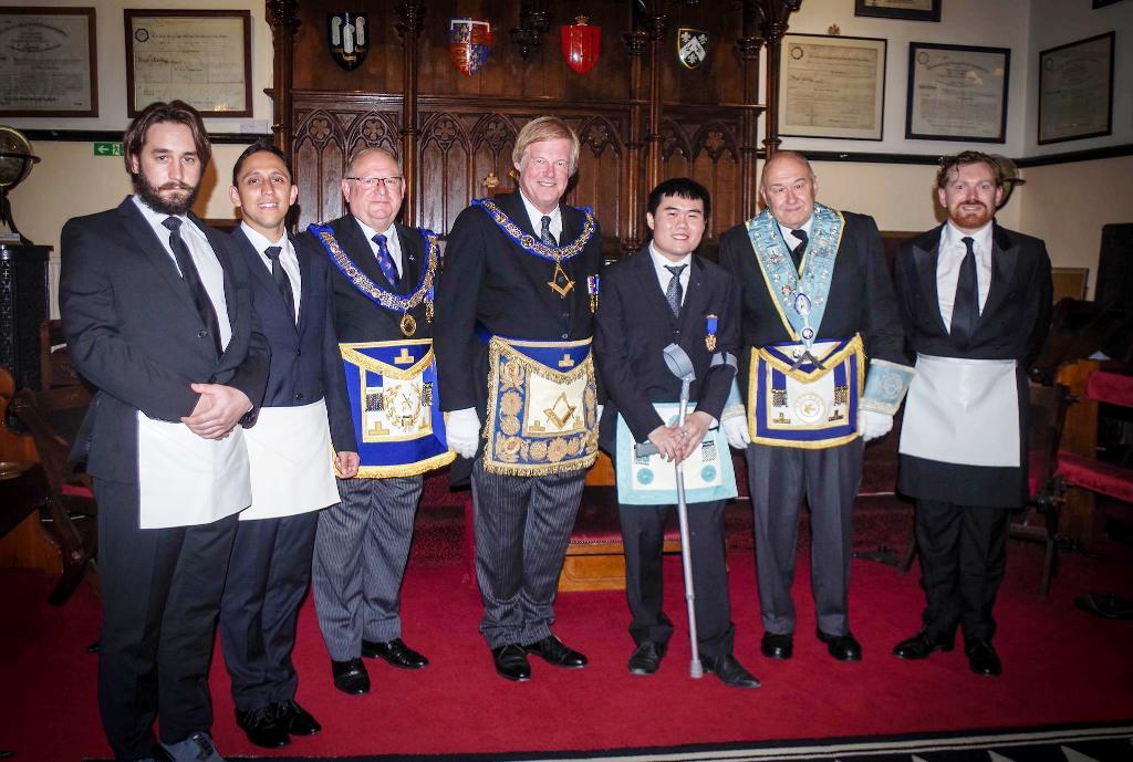 From L to R, Niko Majstorović, Ivan Vedrichkov, Peter Williams, Sir David Wootton, Paul Wong, Peter Jenkins and Luke Sullivan