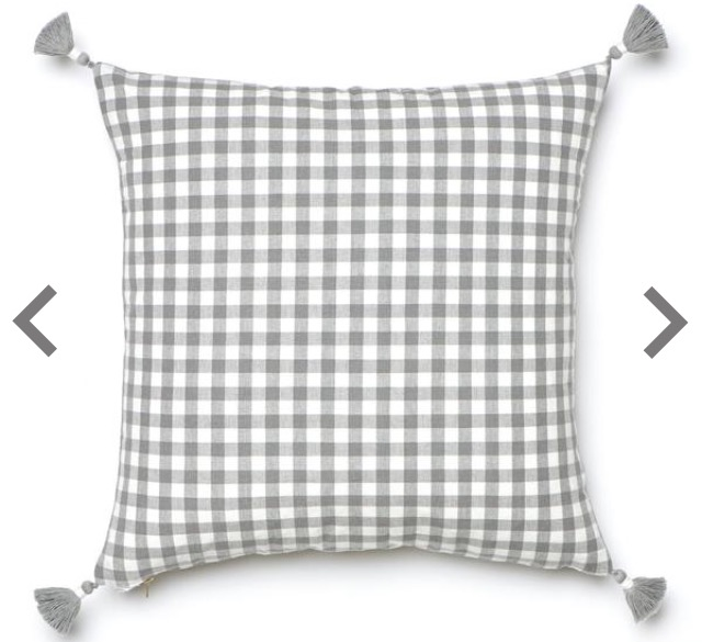 Caitlin Wilson Grey Gingham Pillow