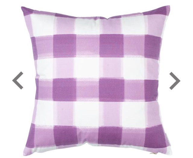 Caitlin Wilson Lilac Burnside Buffalo Check Pillow