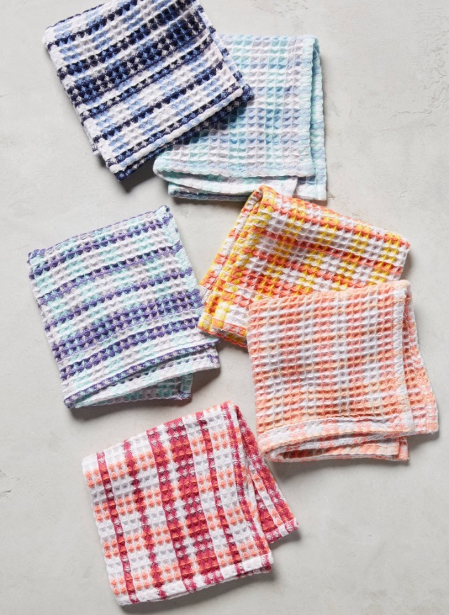 Plaid Dishcloth Set