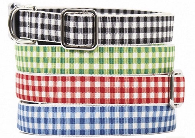 Gingham Pet Collar
