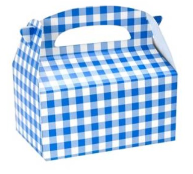 Blue Gingham Favor Boxes