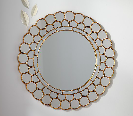 Pottery Barn Kids Gold Circle Blossom Mirror