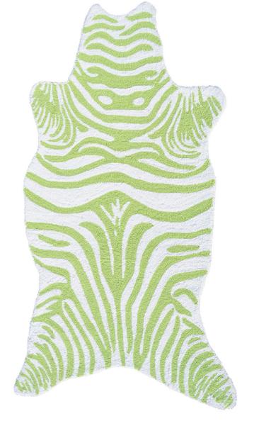 Zebra Hand-Hooked Rug