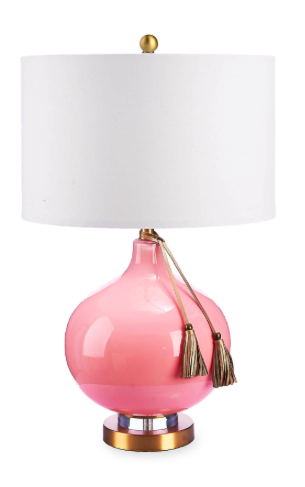 Cupcakes and Cashmere Glass Tassel Table Lamp