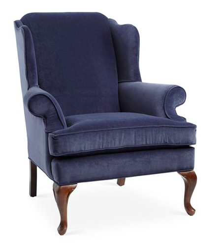 Navy Wingback