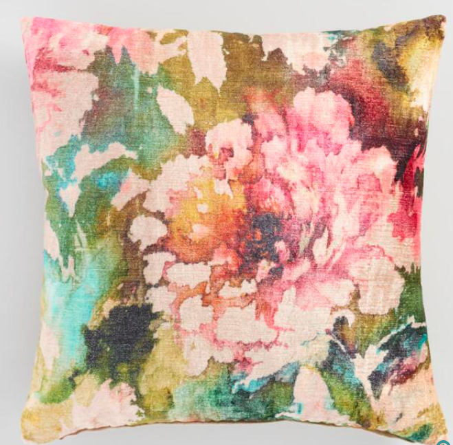 Floral Lombardy Throw Pillow